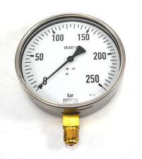 """WIKA Ø160mm Manometer 9062165 unten 0-250 bar G 1/2"""" 212.20.160 NEU OVP"""