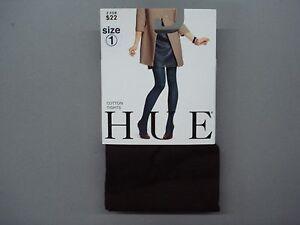 NWT Women's Hue Cotton Tights 1 Pair Size 1 Espresso #865K