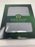 Royal Palms Spa Collection Luxury Microfiber King Sheet Set -  Grey - Free Ship