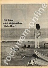 Neil Young On The Beach Advert 27/7/74