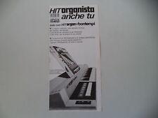advertising Pubblicità 1972 BONTEMPI HITORGAN HIT ORGAN