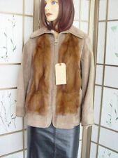*MINT DEMI BUFF (LUNARAINE) FUR CLOTH JACKET COAT WOMEN WOMAN SZ 2-4 NEW LINING