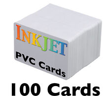 100 High-Quality Inkjet PVC Cards - For Epson & Canon Inkjet Printers