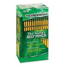 Dixon Ticonderoga 13872 Woodcase Pencil, HB #2, Yellow Barrel 144 count BRD NEW