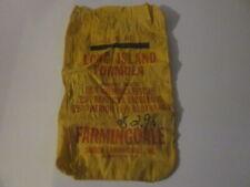 VINTAGE LONG ISLAND FORMULA YELLOW CLOTHE GRASS SEED BAG