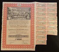 Historisches Wertpapier Societe Des Mines dOrDeKilo Moto 1944 u TADA Corporation