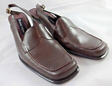 NWOT Etienne Aigner Womens Brown Leather Slingback Shoes Pumps Sz 7.5M Chunky