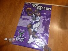 2000 Ray Allen Milwaukee Bucks Wall Poster Starline NBA Full Sized