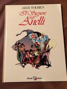 Libro illustrato Il Signore Degli Anelli Tolkien Rizzoli prima edizione 1979