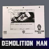 DEMOLITION MAN - Production Made Storyboard feat Stallone as Spartan