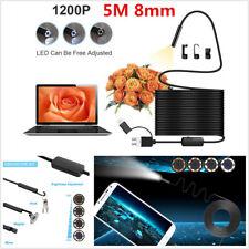 3 IN 1 USB+Micro USB+Type-C Endoscope Inspection Camera Semi-rigid HD Borescope