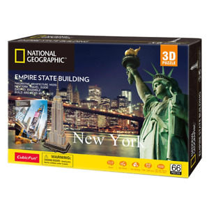 National Geographic Empire State Building 66 Piece 3D Puzzle NEW