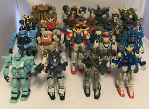 Bandai Gundam Action Figure Lot Of 18 Figures, Some Weapons,  Xamel, Grizzly