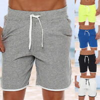 Men's Quick Dry Drawstring Waist Swim Trunks Surfing Beach Holiday Party Shorts