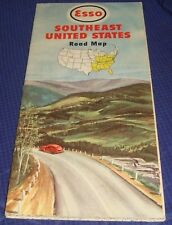 BR435 Vtg Esso Imperial Oil Co Southeast United States Road Map 1949