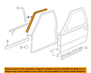 GM OEM Front Door-Drip Weatherstrip Weather Strip Right 15113133