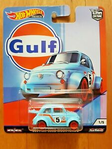 HOT WHEELS CAR CULTURE 2019 G ~ GULF ~ 1/5 '60S FIAT 500 MODIFICADO
