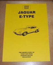 JAGUAR E-TYPE ROAD TEST REPRINT BOOK 1962-64 PLUS OVERHAUL INFO 1962-66 MODELS