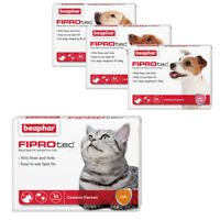 Beaphar FIPROTEC Flea Spot On Treatment For Small, Medium, Large Dogs & Cats