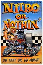 Hot Rod Drag Race Car Nitro Speed Shop Metal Sign Man Cave Garage Club MLK013