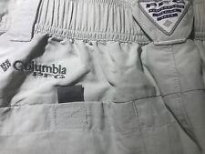 Mens Columbia PFG Omni-Shade Hiking Fishing Cargo Shorts Size 30 - Gray