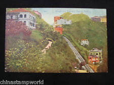 old China HK postcard,Hongkong transway station,Peak, 343,unused