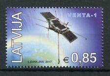 Letonia 2017 estampillada sin montar o nunca montada primer satélite Venta - 1 1 V Set satélites espacio SELLOS