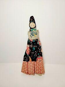 """Vtg Cloth Rag Doll Early American Primitive Folk Art Toy Old 12"""""""