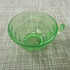 VINTAGE GREEN VASELINE/URANIUM DEPRESSION GLASS CUP, PLEASE READ!! R180