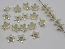 500 Ivory Acrylic Pearl Bead Cap Bellflower Bell Flower Beads 12mm
