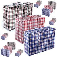 Jumbo Laundry Bags Zipped Reusable Large Strong Shopping / Storage Bag Zip *Lndr