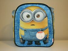 Zak Despicable Me Minions 3D Insulated Lunch Bag 3 Pcs - Brand New