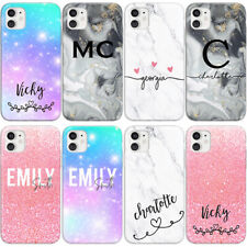 PERSONALISED INITIALS PHONE CASE MARBLE NAMES NEW COVER FOR SAMSUNG S8+ S9 S10