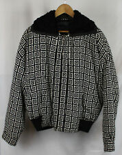 Vintage Gianni Versace Checker Pattern Bomber Jacket Sz 54