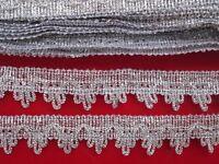 9 Meter Silber Spitze 2,5cm breit Borte # BB 181