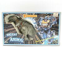 Ancient Animal Tyuannosaurus Transformers G1 KO Grimlock Box Unused Decals VTG