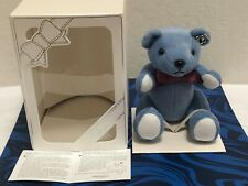 Holder with Pearl Silver Pin brooch New Mikimoto Blue Teddy Bear Cell Phone