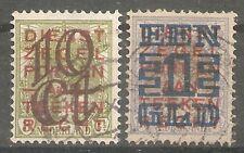 nederland 132-133 gestempeld  c.w.  €  26,50