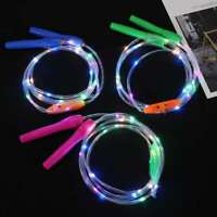 Led Light Up Jump Rope Adjustable Training Sports For Kids Plastic Skipping Rope