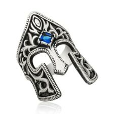 GLADIATOR Signet 925 Sterling Silver, Handmade Men's Rings with Cubic Zirconia