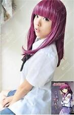 ANGEL BEATS Medium Nakamura Yuri Long wig Cosplay Wigs+free wig cap