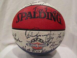 ABA Legends Multi Autographed Basketball w/Gervin, Frazier, Cowens– Full JSA LOA