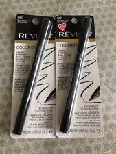 Lot of 2, Revlon Colorstay Liquid Eye Pen Ball Point, 001 Blackest Black