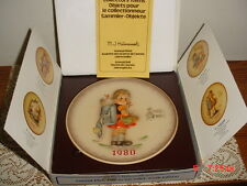 "HUMMEL GOEBEL ""1980"" COLLECTOR PLATE/BOX/HUM273/W GERMANY/HAND PAINTED/FREE SHIP"
