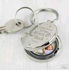 Personalised I Love You To The Moon And Back Photo Keyring Birthday Gift Him/Her