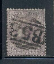 MAURITIUS 29 SG51 Used 1860-63 9p lilac QVIC Unwmkd Cat$43
