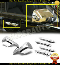 For 2008-2012 Ford Escape Chrome Full Mirror Covers+4DR Handle Covers Set