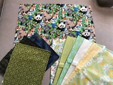 Quilt fabric - Jungle Print & 9 matching Fat Quarters by Blank textiles