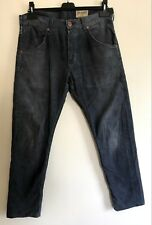 Wrangler blue corduroy trousers jeans cords tapered fit  W32 x L27