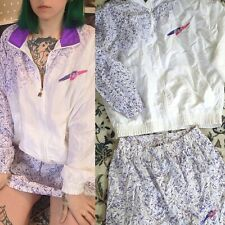 Vintage Women's Fila Made In Italy Windbreaker + Skirt Tennis Nylon Purple 1980s